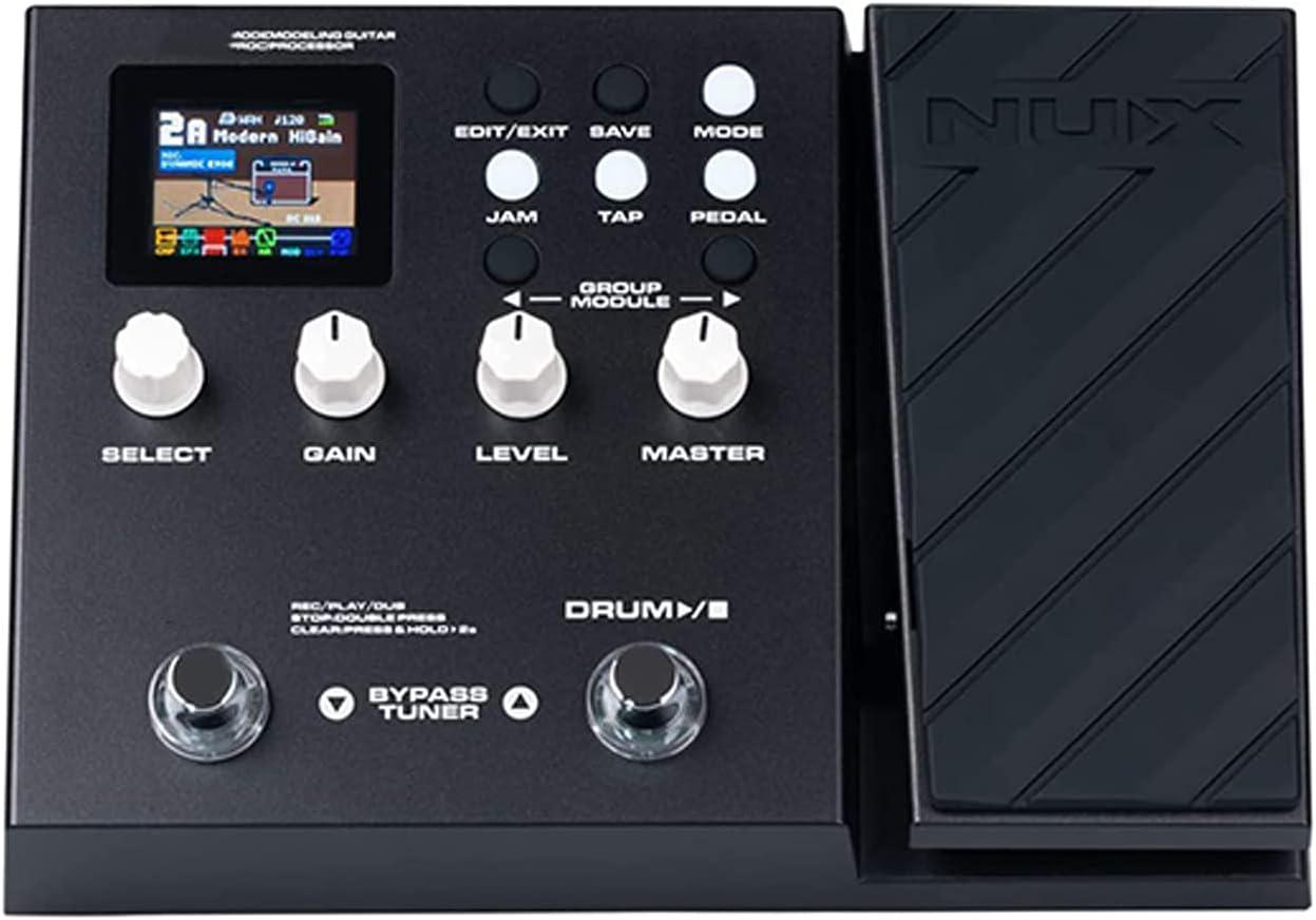 QWERTOUR Pedal de Efectos múltiples Pedal, algoritmo de Modelado de amplificadores, posteriores a los Efectos, IR, 56 ritmos de Tambor, procesador de Guitarra de Bucle