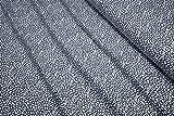 mollipolli-Stoffe Jersey gefleckt weiß auf dunkelblau by