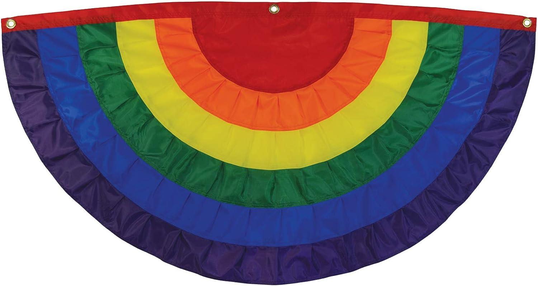 Amazon Com In The Breeze Pleated Fan Rainbow Bunting 4 X 2 Garden Outdoor