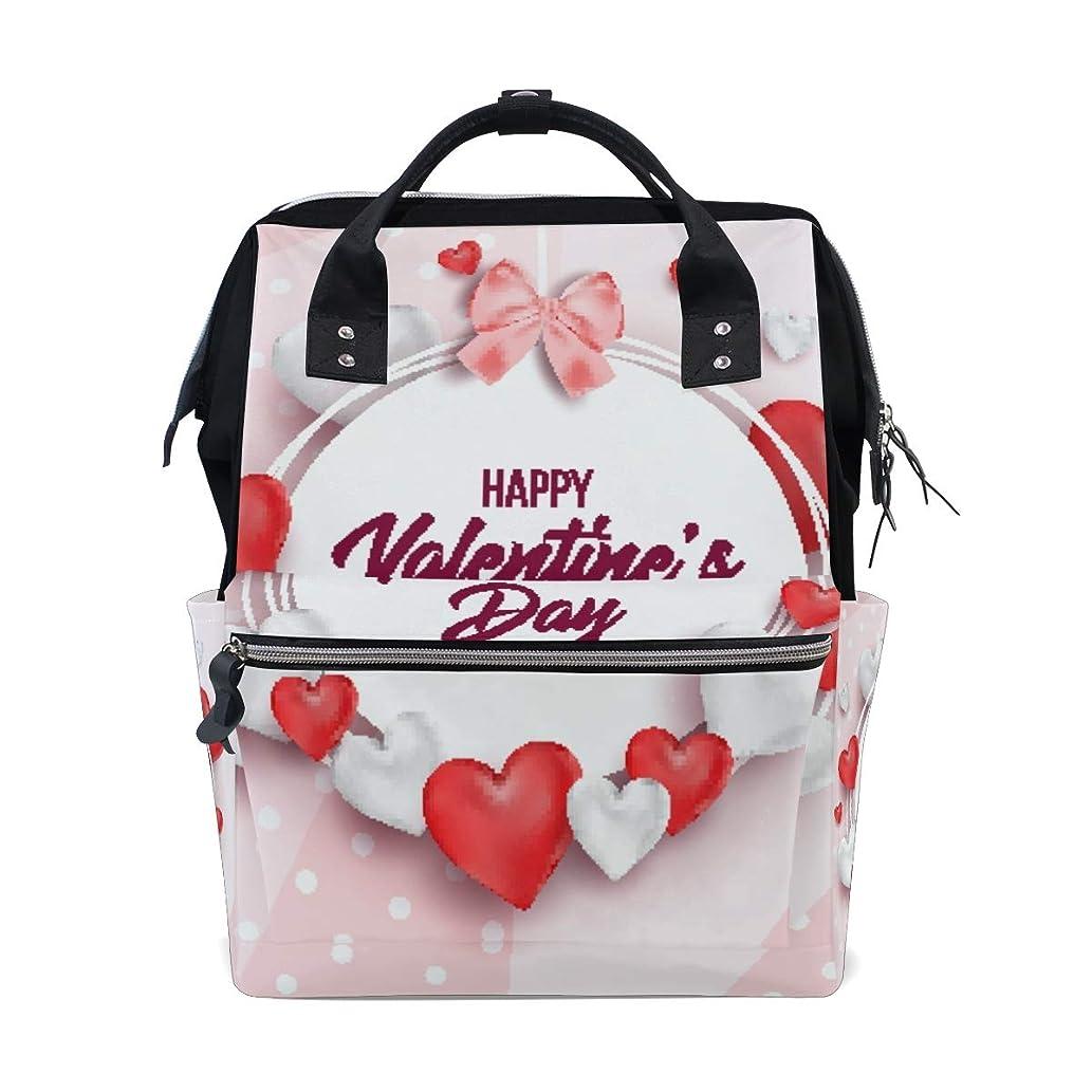 Happy Valentine's Day School Backpack Large Capacity Mummy Bags Laptop Handbag Casual Travel Rucksack Satchel For Women Men Adult Teen Children