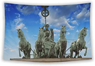 Wall Tapestry For Bedroom Hanging Art Decor College Dorm Bohemian, Storm Approaching Berlin And Brandenburg Gate, 60x51