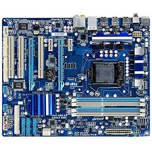 TOPOU Plato Principal Placa Base de Escritorio Fit For Gigabyte GA-P55A-UD3 Placa Madre de Escritorio usada Original P55A-UD3 P55 Socket LGA 1156 DDR3 ATX