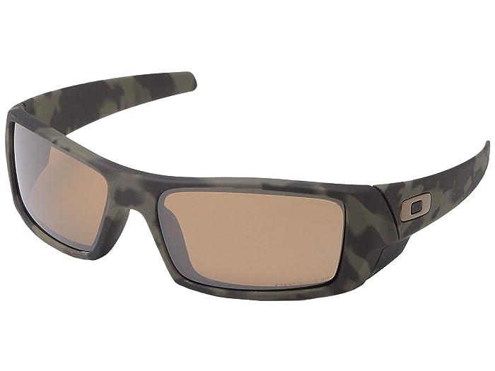Oakley GasCan (Matte Olive Camo w/ PRIZM Tungsten Polarized) Sport Sunglasses