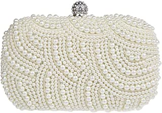 Womens Luxury Special Crystals Beaded Dress Bag Evening Bags, White
