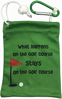 Giggle Golf Microfiber What Happens On The Golf Course Stays On The Golf Course Tee Bag With Four Wood Tees
