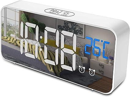 opamoo Reloj Despertador Digital, Reloj Despertador Digital