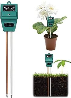 LAIYYI 3-i-1 jord fuktmeter trädgård växt blommor jord PH testare fuktmätare testverktyg för trädgård gård inomhus och uto...