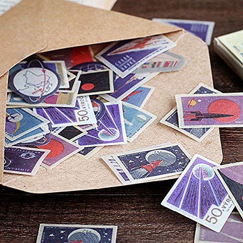 Vintage stempel sticker schattige reissticker Kawaii drank decoratieve sticker dagboek scrapbooking supplies45 stuks per doos