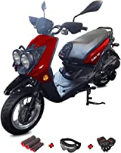 X-Pro 150cc Moped Scooter Adults Scooter Zoma 150cc Gas Moped Scooter 4 Stroke Scooter with Gloves, Goggle and Handgrip