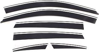 Auto Ventshade 796002 Low Profile Ventvisor Side Window Deflector with Chrome Trim, 6-Piece Set for 2007-2011 Honda CR-V
