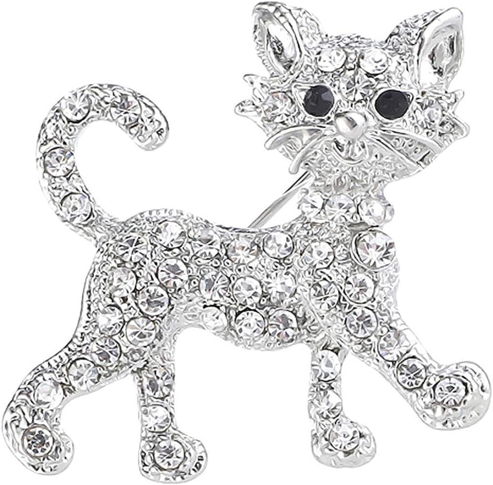 Product HaHawaii Brooch Pin Women Alloy Rhinestone Inlaid Baltimore Mall Pi Cat