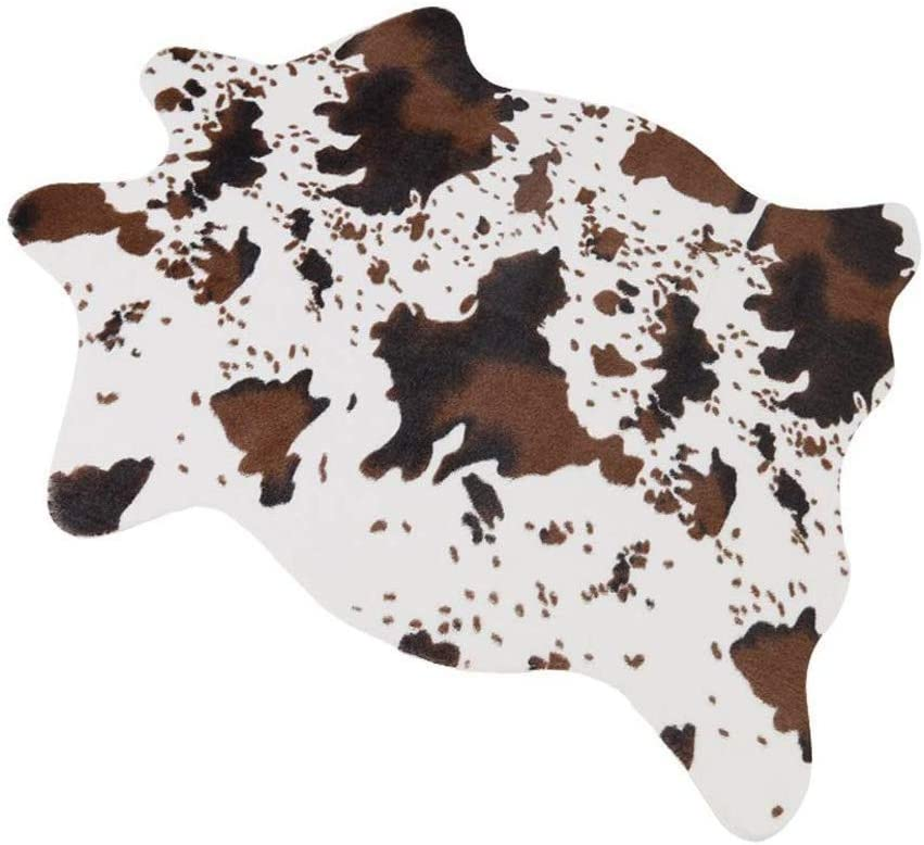 Popular products MustMat Cute Cheap Cow Print Rug Fun Area for De Cowhide Faux Nice