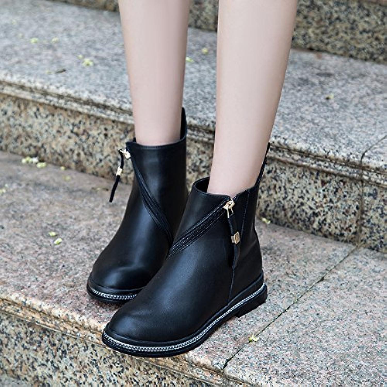 AGECC Damen Stiefel Bequeme Schöne Durable Martin Eine Flache Runde Kopf Kurze Stiefel  | Auktion  | Überlegene Qualität  | Wunderbar