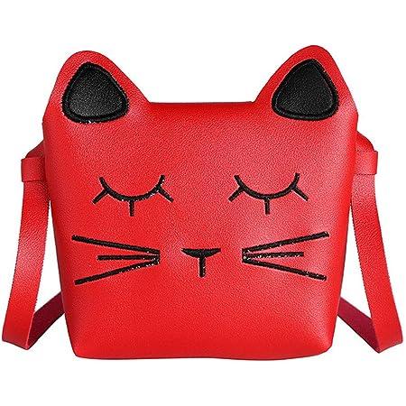 whatUneed Bolso del bolso del bolso de hombro de las niñas lindas, mini bolsos de la princesa, bolso del mensajero del cuerpo cruzado del gato
