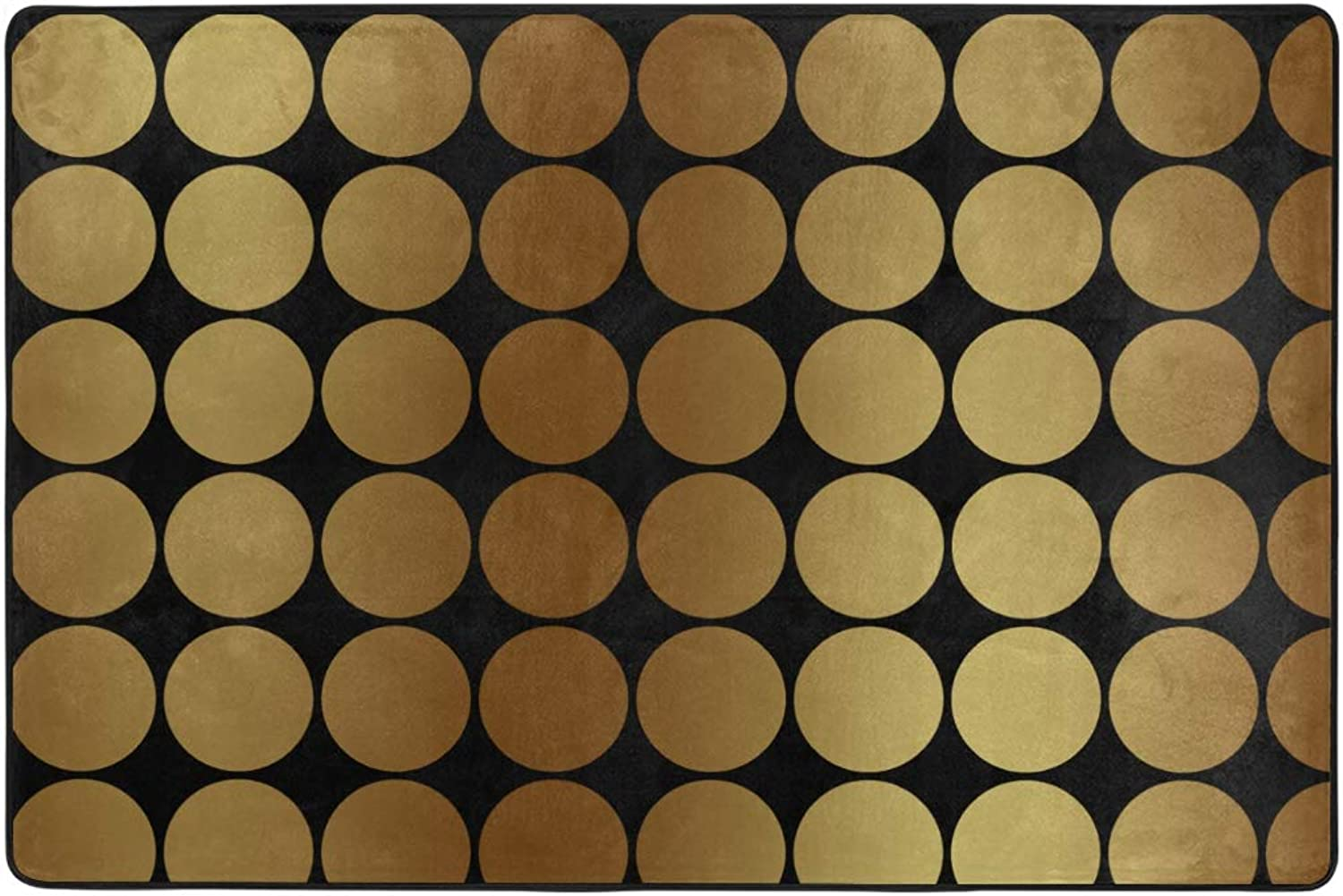 MONTOJ gold Dots Weathertech Floor mats Area Rugs for Living Room Bedroom Home Decoration Carpet Doormat Wearproof