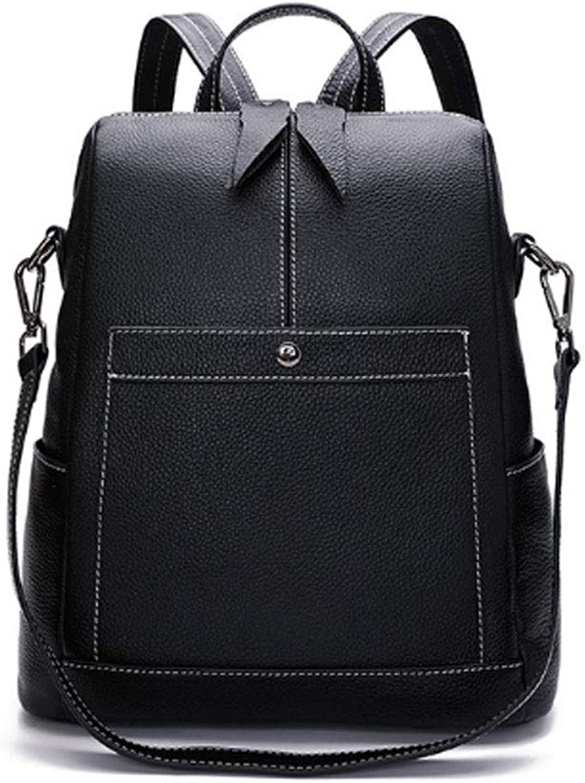 Frauen-Rucksack-Mädchen-Damen-PU-Leder stilvolle und Elegante Arthandtasche Arthandtasche Arthandtasche College-Taschen-Rucksack (Farbe   SCHWARZ, größe   OneGröße) B07PGNT248 27d4e0