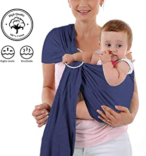 Egmao Adjustable Baby Ring Sling Baby Carrier Infant Wrap With Aluminum Ring Best Baby Gift One Size For Girls Boys Baby Wrap Activity & Gear