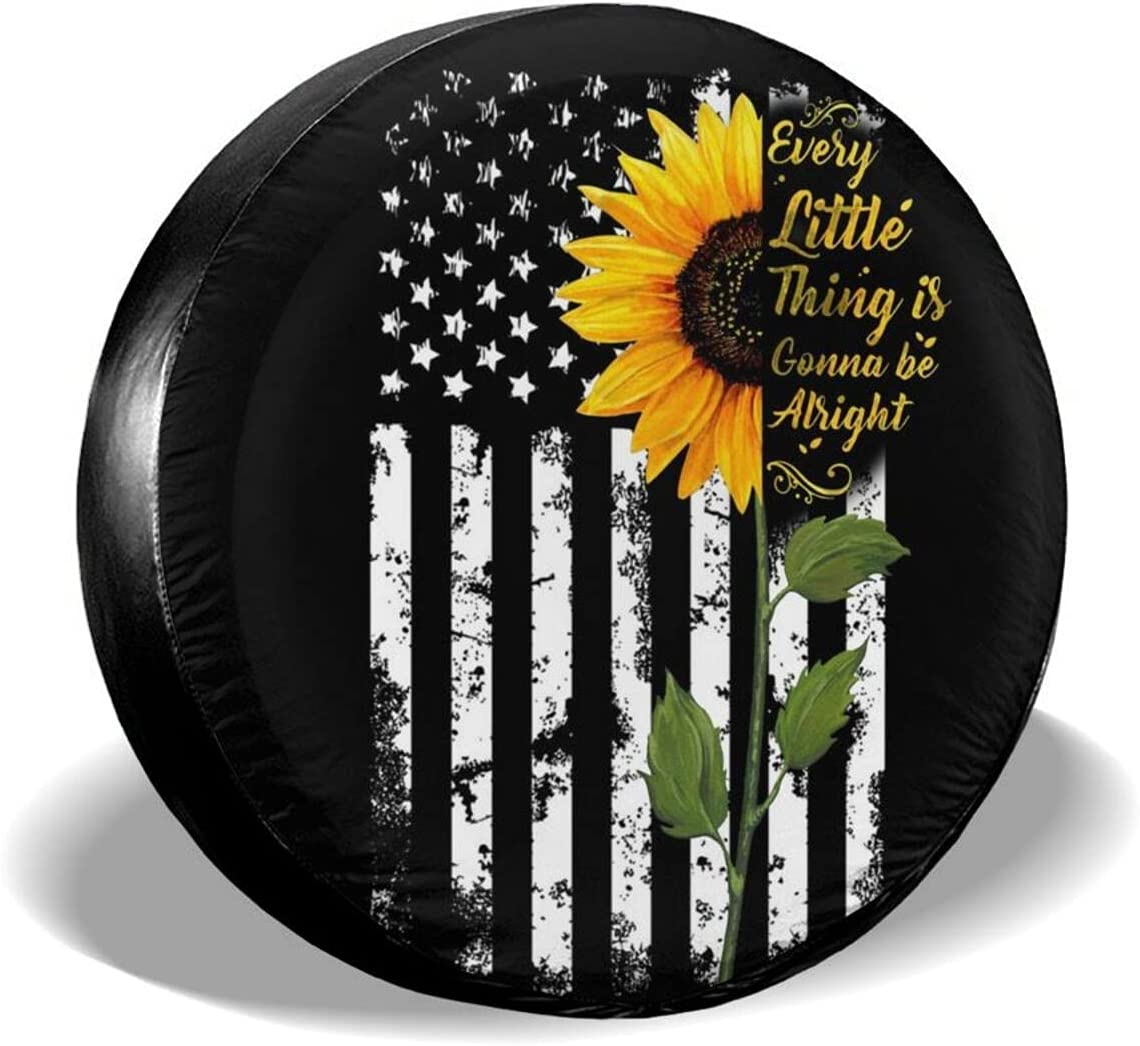 Max 84% OFF famous QUKIMZH Sunflower Spare Tire Cam Cover Covers Inspirational
