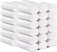 Tomaibaby Papel Higiénico de Papel de Pulpa de Madera, 4 Capas de Espesor Papel Higiénico para Uso en El Baño de La Cocina Doméstica - 36 Rollos (Blanco)