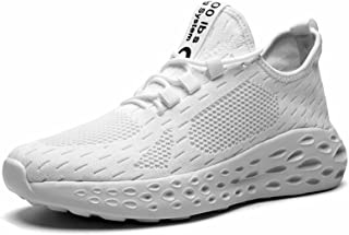 Men's Running Shoes, Tennis Shoes, Walking Shoes, Trainers, Lightweight, Breathable Sports Shoes, Trainers, White, 7 UK