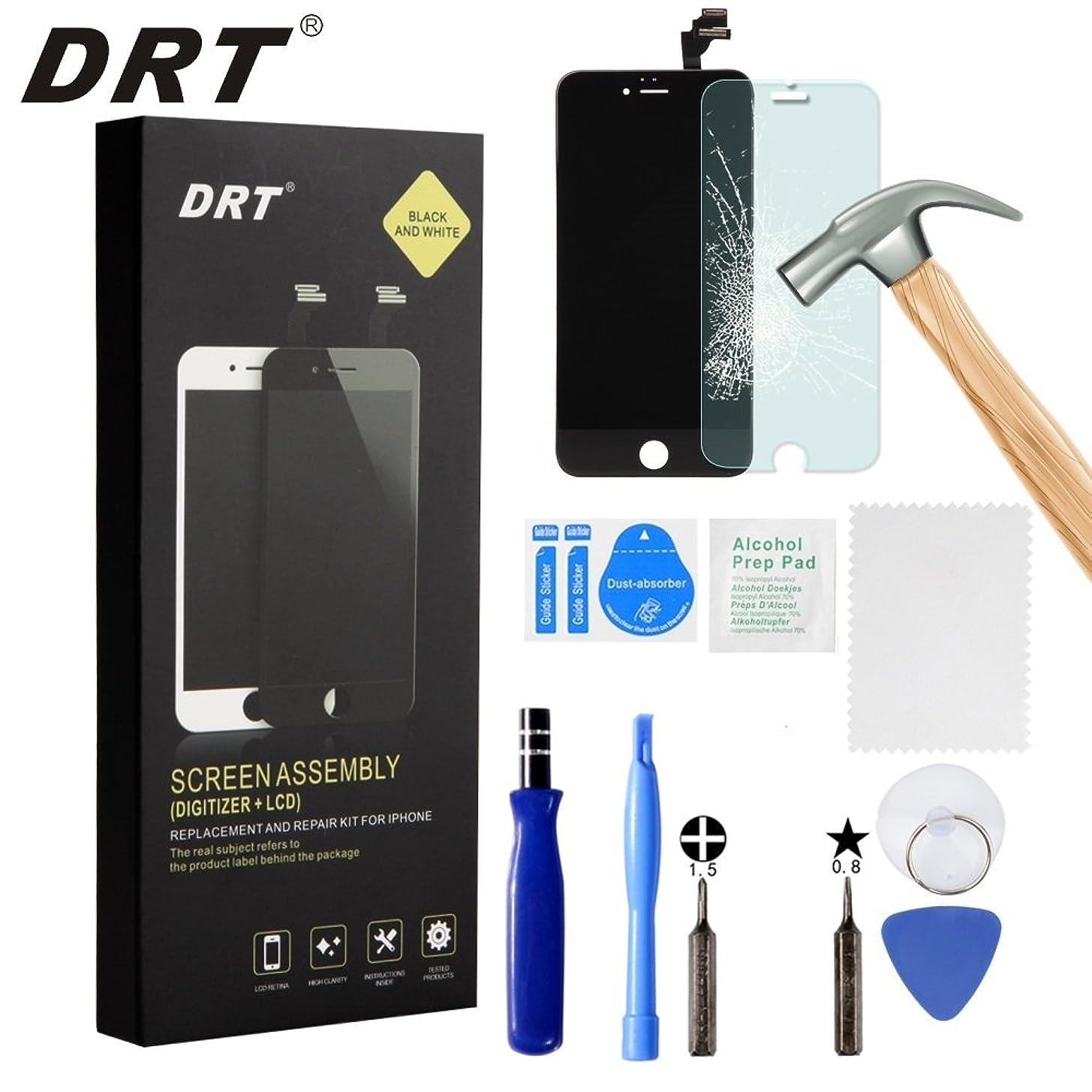iPhone 6s フロントパネル 液晶パネル タッチパネル 修理用交換用LCD フロントガラス デジタイザー 工具セット付属 (6S ブラック)