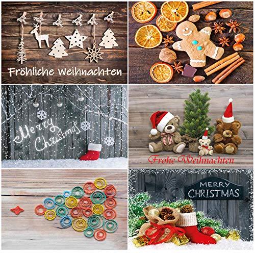 Weihnachtspostkarten Set Weihnachtskarten Weihnachten Karten Postkarten 30 50 100 Stück Kunst Vintage Nostalgie (Nostalgie, 30)