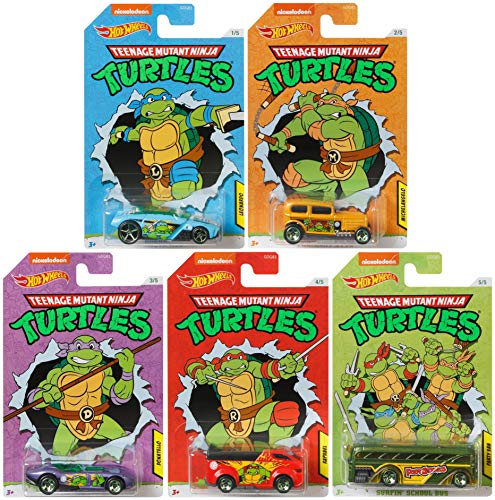 Hot Wheels 2020 Teenage Mutant Ninja Turtles 5 car Set .. .