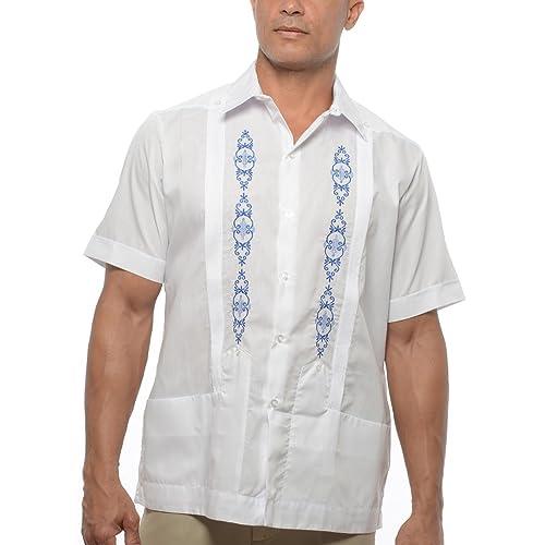 a935b7c2 D'Accord Men's Short Sleeve Mexican Wedding Shirt, Guayabera