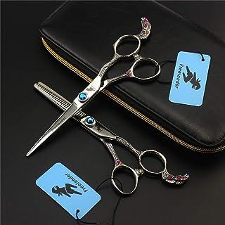 Persoonlijkheid Kapsalon Scissors 6.0 Inch 6CR RVS Set, Licht En Sharp Upscale Barber Salon Tools for Women Heren En Kinde...