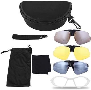 dab703f6a1 Tbest Gafas Polarizadas de Seguridad, Gafas Ciclismo Fotocromaticas  Antiniebla Gafas Tácticas Antivaho Gafas Balisticas Militares