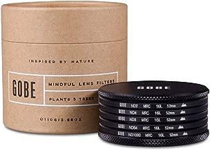 Gobe ND Filter Kit 52mm MRC 16-Layer: ND2, ND4, ND8, ND64, ND1000