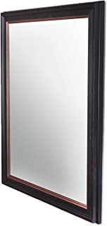Art Street Modern Warnish Wall Decorative Mirror Black Color Inner Size 16 x 20 inch, Outer Size 19 x 23 inch