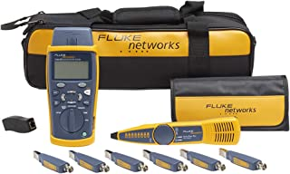 Fluke Networks CIQ-KIT Copper Qualification Tester Kit Qualifies and Troubleshoots Category 5-6A Cabling for 10/100/Gig Ethernet, Coax and VoIP, Includes IntelliTone Pro 200 & Remote ID Kit