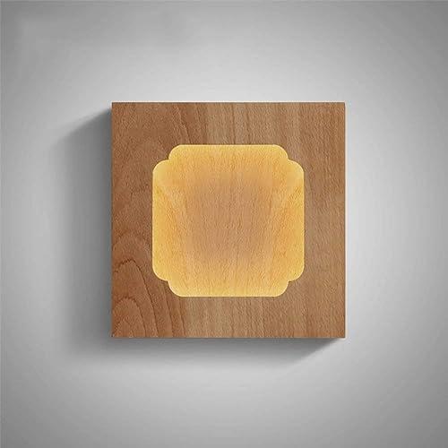 Wall lamp éclairage, lumière de Mur Minimaliste Moderne, lumières d'allée Simples, lumières Hommesées de Mur lumières de décorations en Bois Solides de Chambre à Coucher