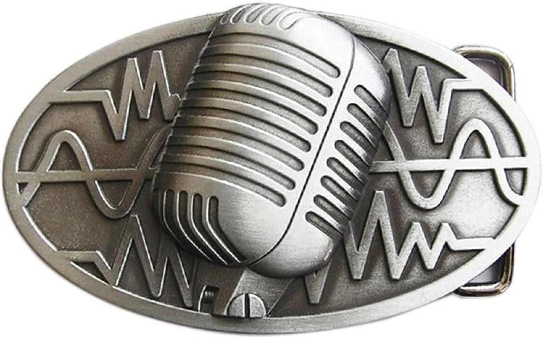 San Antonio Mall Microphone Wholesale Music Belt Buckle Womens BUCKLE-MU072AS