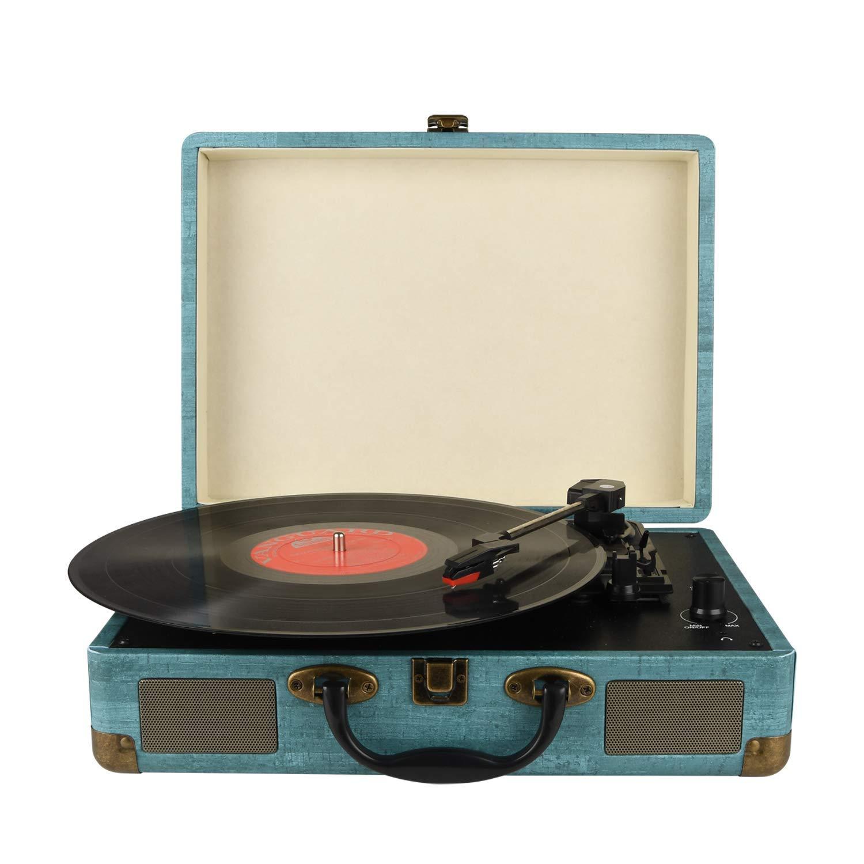 Vintage 3 Speed Bluetooth Turntable Suitcase