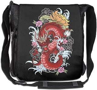 Eden Edies Red Dragon Unisex Crossbody Bag Messenger Shoulder Sling Postman Bags