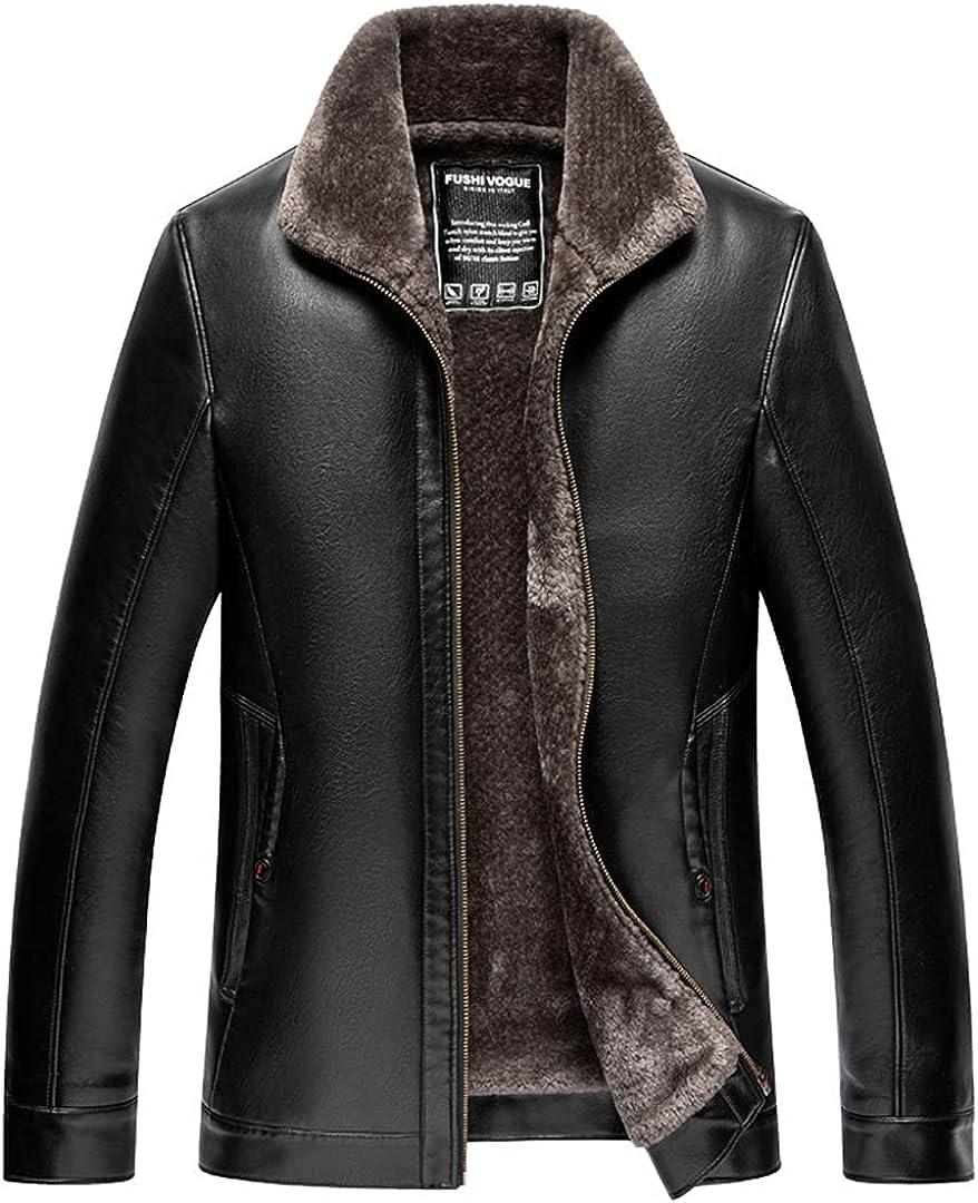 Mens Clothing Jacket Casual Zipper Skin Leather Motorcycle Coat Casual Jacket