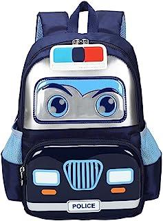 Kids Toddler Police Car Backpack, Small School Bag Preschool Kindergarten Bookbags for Boys Girls