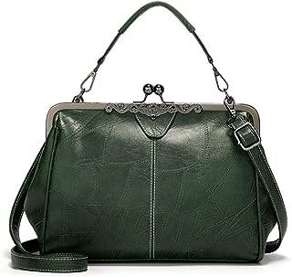 Retro Shoulder Bag Handbag Crossbody Bag Simple Fashion Clip Vegan Leather Bag for Women