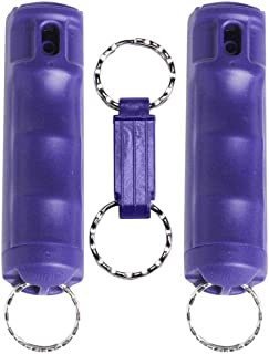 VEXOR Police Strength Pepper Spray, Flip-Top Finger Grip, 20+ Shots, 10-12 Ft. Range w/Key Release 2 Pack
