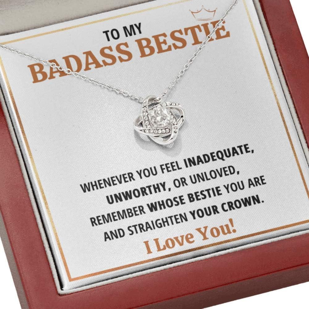 Best Friend Necklace 40%OFFの激安セール Gift To My Cr 新作 大人気 Badass Bestie Straighten Your