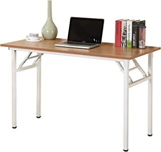 Need 47 inches Computer Desk Office Desk Folding Table with BIFMA Certification Computer Table Workstation,Teak White AC5BW-120
