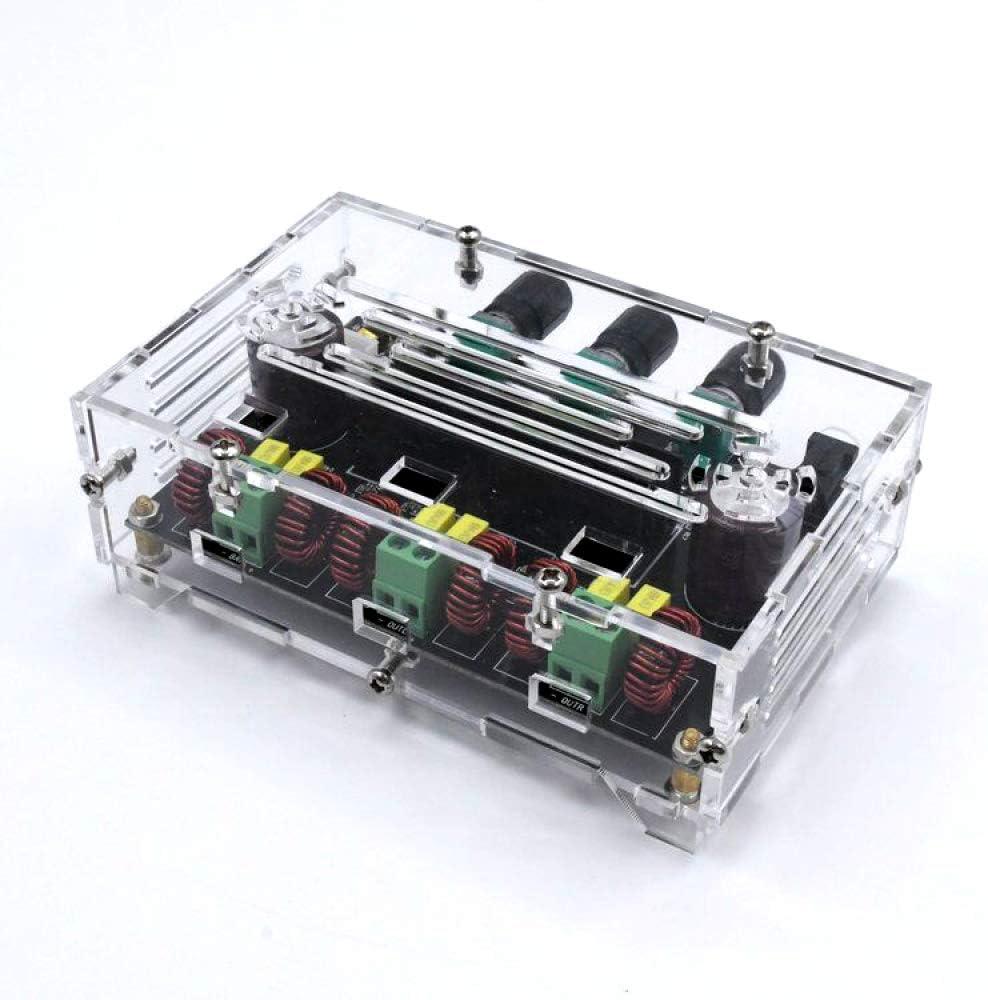 TEQIN 2.1 Canal Bluetooth 5.0 TPA3116D2 Subwoofer Amplificador de Alimentaci/ón 2x80W+100W Carcasa M/ódulo de AMP Est/éreo de Audio para Sistema de Audio DIY Altavoces Placa Desnuda Bass