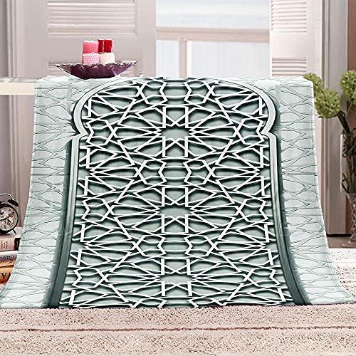 Mantas para Sofa De Franela 3D Puerta Hueca Manta con Estampados para niños Adultos Manta de Microfibra Suave cálida para Cama sofá y Viaje 100x130cm