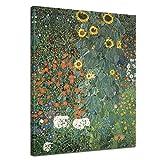 Wandbild Gustav Klimt Bauerngarten mit Sonnenblumen -