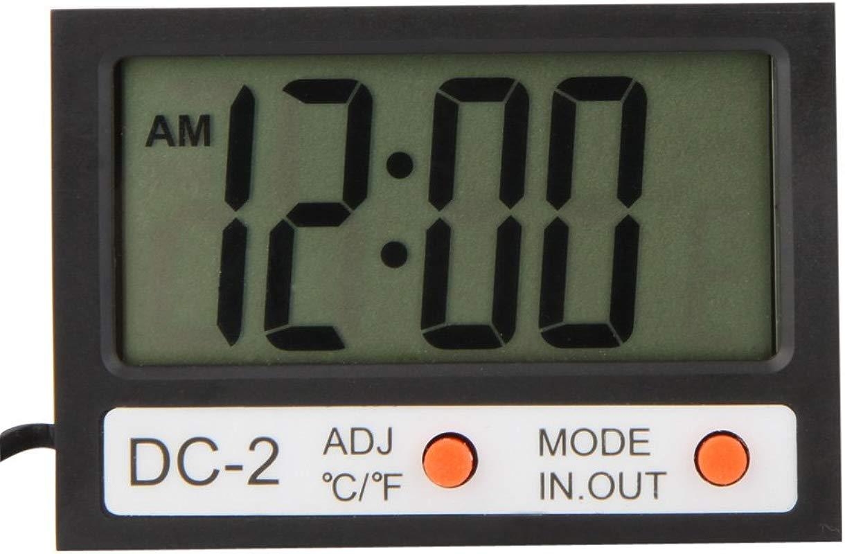 Walmeck Indoor Outdoor Mini LCD Digital Thermometer Temperature Meter Clock W Probe