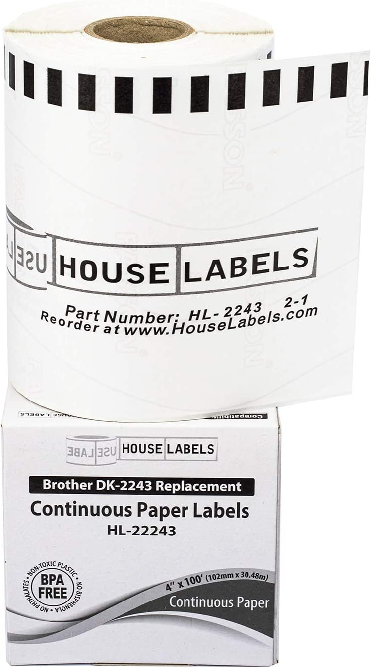HOUSELABELS Compatible with DK-2243 Brother Ranking Max 53% OFF integrated 1st place for Replacement Roll
