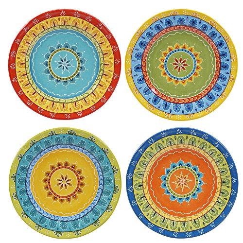 "Certified International Valencia Dessert Plates (Set of 4), 8.75"", Multicolor"
