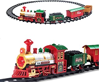 Best mounted christmas tree train set Reviews
